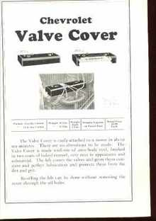 1925 Chevrolet Valve Cover Dealers Ad Page