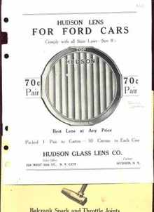 Hudson Lens ad Ford Cars 1925 & 5 Dealers Ads