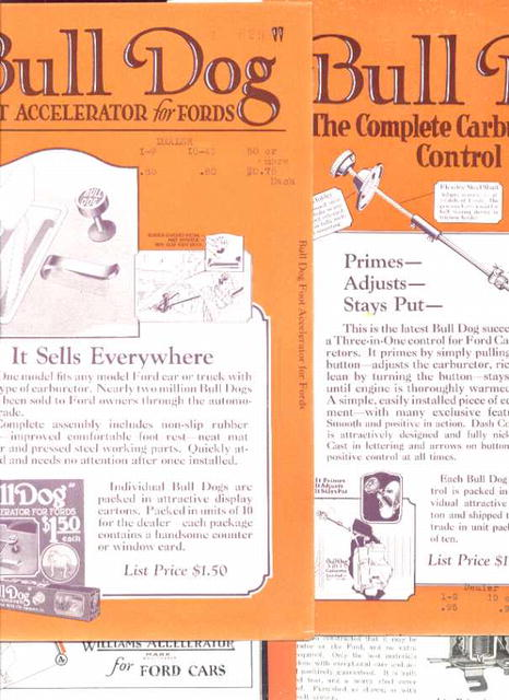 Bull Dog Accelerator Dealers Ads & more 1925