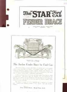 1925 Ford Car Fender Braces Grt Dealers Ads