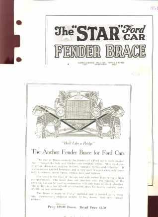 1925 Ford Car Fender Braces Grt Dealers Ads