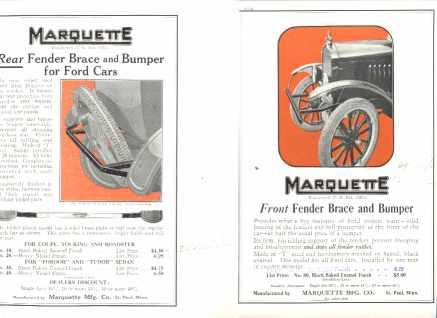 Marquette Fender Braces Ford Cars 1925 Great