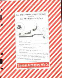 1925 Braces Support for Fords 6 Dealers Ads