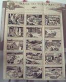 Trails to Turnpikes Poster 1960 antique cars