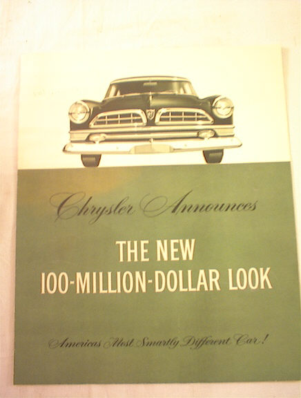 1954 Chrysler New Yorker De luxe brochure