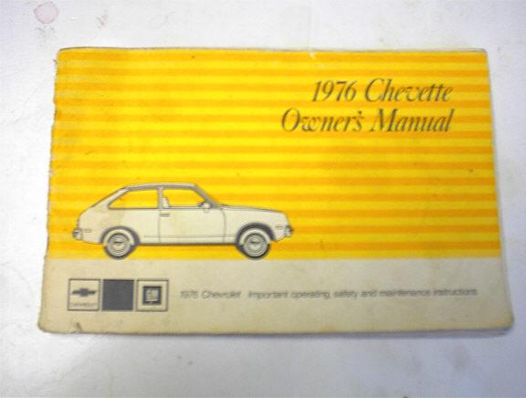 1976 Chevette Owner's Manual
