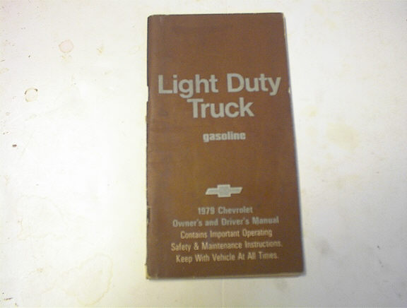 1979 Light Duty Truck Owner's Manual