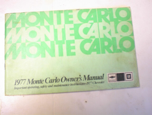 1977 Monte Carlo Owner's Manual
