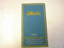 1979 Malibu Owner's Manual