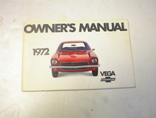 1972 VEGA Chevrolet Owner's Manual