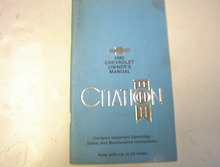 1980 Chevrolet Citation Owner's Manual