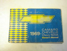 1969 Camaro,Chevelle,Chevy NOVA Owners Manual