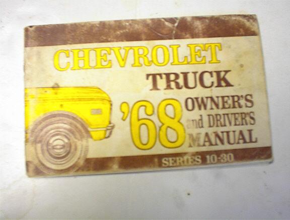 1968 Truck Series 10-30 Owner's Manual