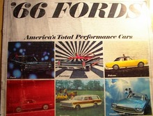 1966 Fords Color Brochure,Fairlane,Falcon,