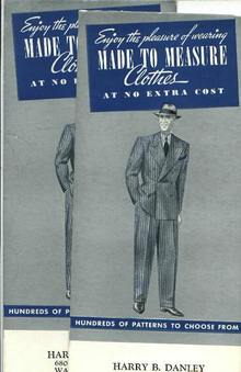 Ad (2) Harry B. Danley, Tailor , circa 1950