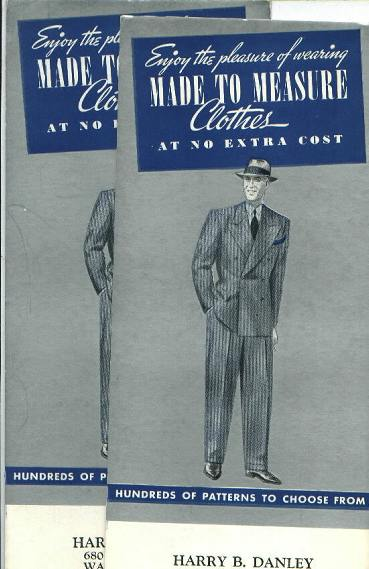 Ad (2) Harry B. Danley, Tailor , circa 1950