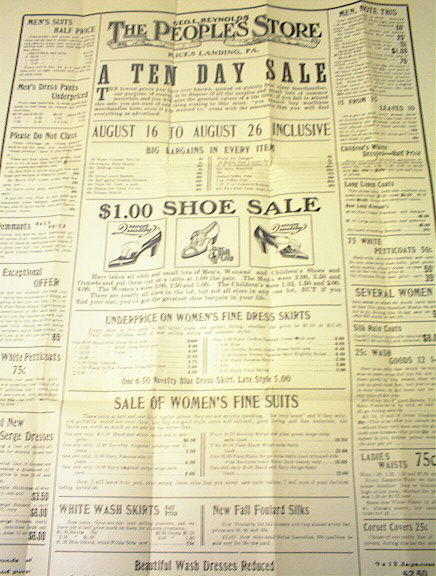 Ca 1900 Geo.L.Reynolds The People Store Ad