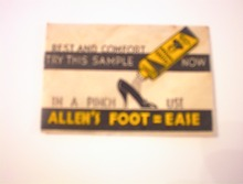 c1940 Allen's Foot=Ease Sample Packet