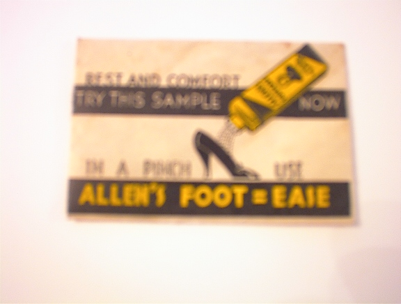 c1940 Allen's Foot=Ease Sample Packet