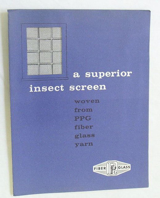 PPG Fiberglass Yarn Insect Screen Ad/Sample