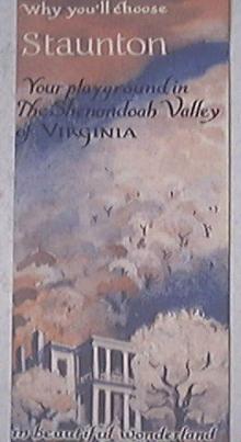 Stauton Virginia White House Motel Brochure