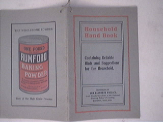 Household Hand Book by Lily Haxworth Wallace1940s