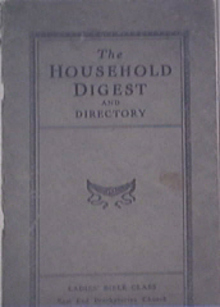 The Household Digest and Directory- Ladies' Bible Class