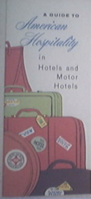 1950's Guide To American Hospitality in Hotels /Motor