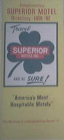 1961-62 Superior Motel Directory