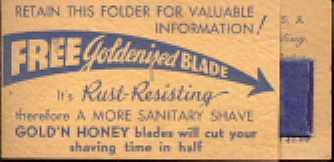 Gold'N Honey Razor Blade Sample sealed