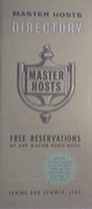 1961 Master Hosts Hotel Directory