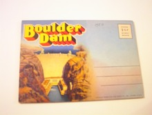BEAUTIFUL 1950 Boulder Dam Senic Folder