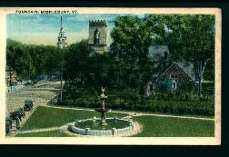 Fountain at Middlebury Vermont from c. 1910!