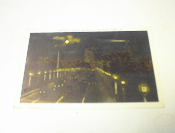 1950's Oak Cliff Viaduct & Skyline of Dallas