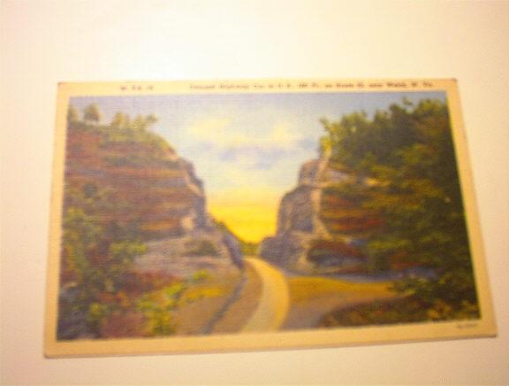 1930's Deepest Highway Cut in U.S.,Welch,W.Va