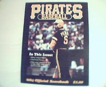 Pirates Baseball! 1984 Official Scorebook!