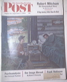 Saturday Evening Post August 25-Spet 1,1962 R.Mitchum