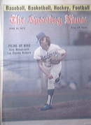 The Sporting News 6/21/1975 Andy Messersmith cover