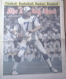 The Sporting News 12/20/1975 Bert Jones cover,