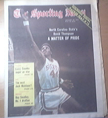 The Sporting News 1/26/1974 David Thompson cover
