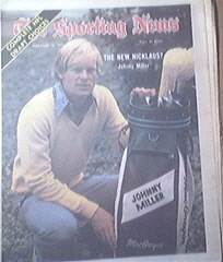 The Sporting News 2/16/1974 Johnny Miller Cover
