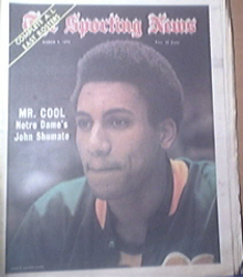 The Sporting News 3/9/1974 John Shumate Notre Dame Cov