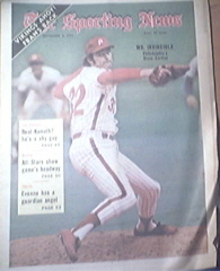 The Sporting News 9/2/1972 Steve Carlton Cover