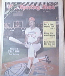 The Sporting News 7/21/1973 Swat King Bob Watson Cover