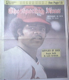 The Sporting News 9/28/1974 St. Louis Reggie Smith Cov
