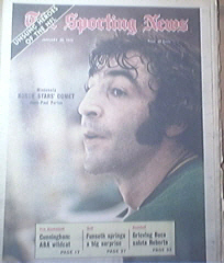 The Sporting News 1/20/1973 Jean Paul Parise Cover
