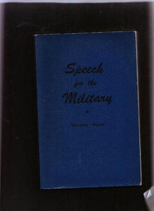 Speech for the Military, 1943