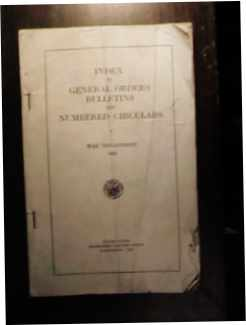 Index to General Orders Bulletins 1943