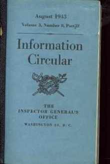 Information Circulars 1942-43 14 booklets