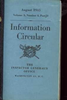 Information Circulars 1942-43 14 booklets